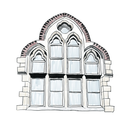 church window - color drawing