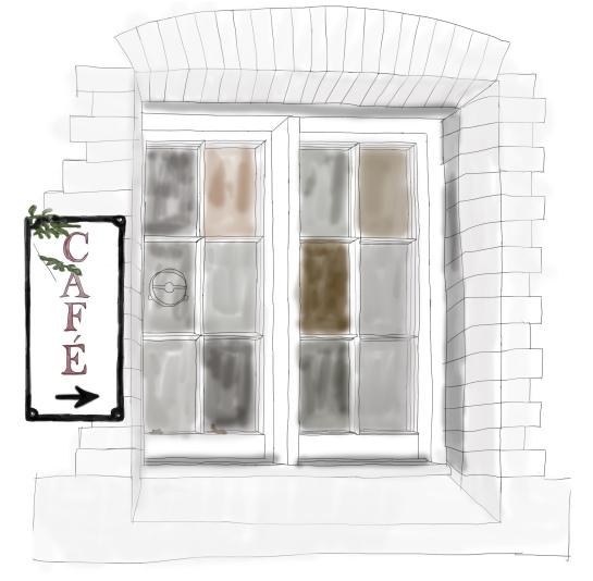 window - left side wall colour